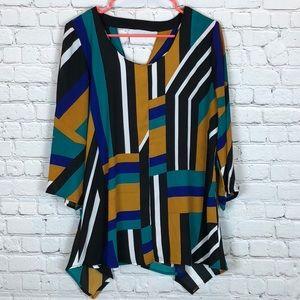Relativity color block blouse